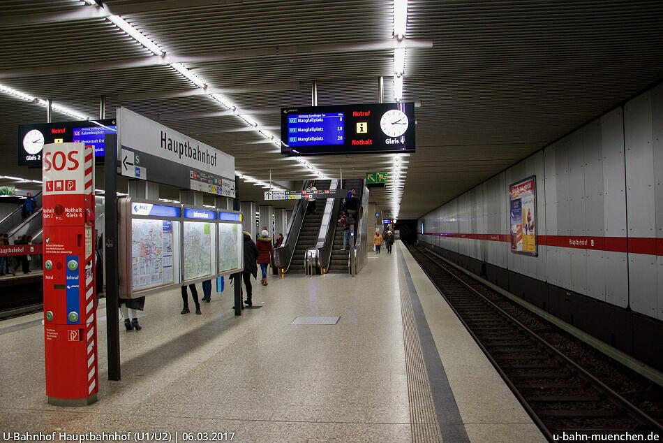 U Bahnhof Hauptbahnhof U1 U2 U7 U8 U Bahn München