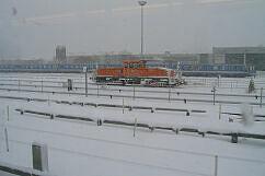 Akkulok im Schnee
