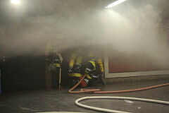 Feuerwehr im Einsatz am Goetheplatz / Foto: Feuerwehr