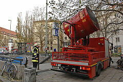 Großlüfter der Feuerwehr am Goetheplatz im Einsatz / Foto: Feuerwehr