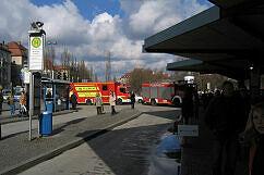 Brand an der Münchner Freiheit