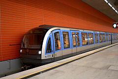 C-Zug 606 im U-Bahnhof Oberwiesenfeld