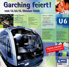 Garching feiert die Eröffnung der U6