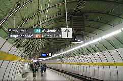 Leitsystem Odeonsplatz - Richtungsschild Hauptbahnhof