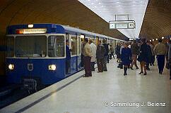 U-Bahn Betrieb nach Eröffnung Oktober 1971