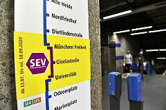 SEV zwischen Münchner Freiheit und Universität