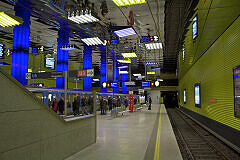 U-Bahnhof Münchner Freiheit nach der Neugestaltung