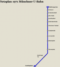 Netzplan Stand 31.12.1971