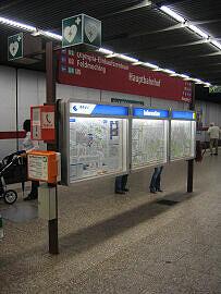 Alte Notrufsäule am Hauptbahnhof