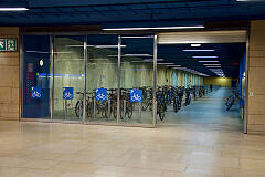 Bike+Ride-Anlage am Olympia-Einkaufszentrum