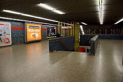 Sperrengeschoss im U-Bahnhof Silberhornstraße