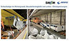 Anlieferungslogistik für die Umbauten am U-Bahnhof Sendlinger Tor