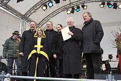 Minister Fahrenschon, Münchner Kindl, OB Ude, Baureferentin Hingerl, MVG-Chef König, Regierungspräsident Hillenbrand