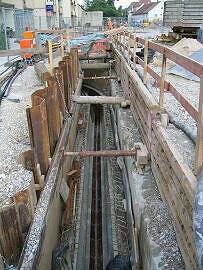 Verlegung Kanalisation Moos. St. Martins-Pl.