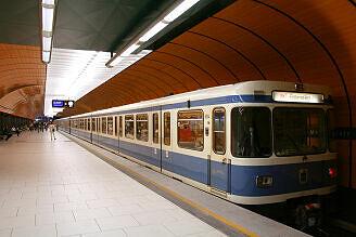 A-Wagen 134 am Marienplatz