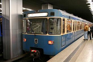 A-Wagen 312 am Hauptbahnhof