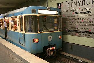 A-Wagen 346 im U-Bahnhof Odeonsplatz