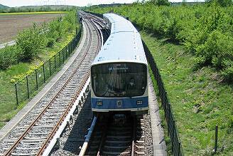 B-Wagen 507 kurz vor Garching-Hochbrück