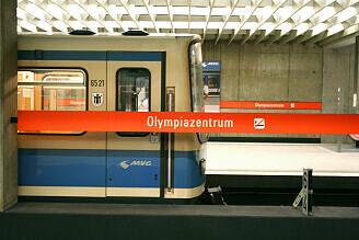 B-Wagen 521 am Olympiazentrum