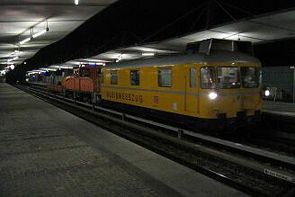 Gleismesszug der DB in Garching-Hochbrück