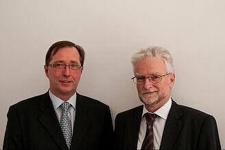 Andreas Orth, Geschäftsführer Berliner Fenster, und Herbert König, Geschäftsführer MVG