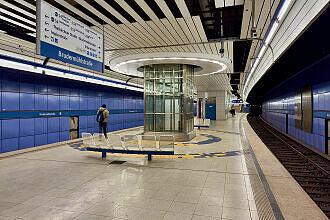 U-Bahnhof Brudermühlstraße mit Aufzug