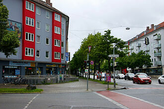 Oberfläche am U-Bahnhof Brudermühlstraße