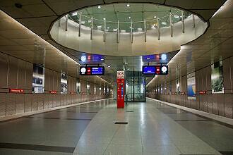 U-Bahnhof Feldmoching mit Durchbruch zum Sperrengeschoss