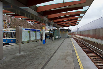 U-Bahnhof Freimann mit ausrückender U3