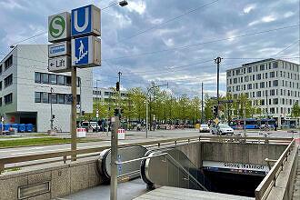 Zugang zum U-Bahnhof Giesing (Bahnhof)