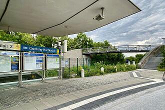 U-Bahnhof Garching Hochbrück vom Busbahnhof aus gesehen