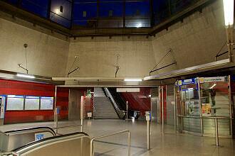 Östliches Sperrengeschoss im U-Bahnhof Josephsburg