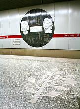 Bodenmosaik im U-Bahnhof Königsplatz