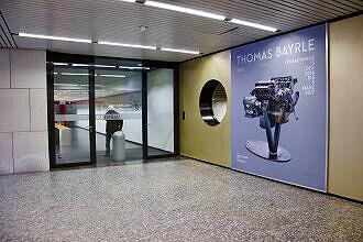Zugang zum Kunstbau aus dem Sperrengeschoss des U-Bahnhofs Königsplatz
