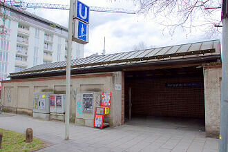 Südzugang zum U-Bahnhof Königsplatz