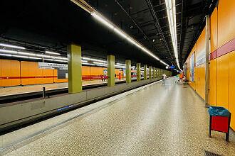 U-Bahnhof Kolumbusplatz Gleis 1
