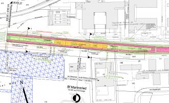 Lageplan des U-Bahnhofs Martinsried aus den Planfeststellungsunterlagen