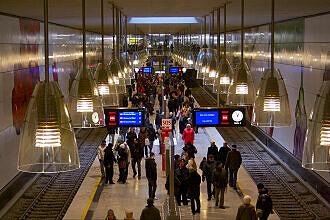 U-Bahnhof Moosach am Eröffnungstag