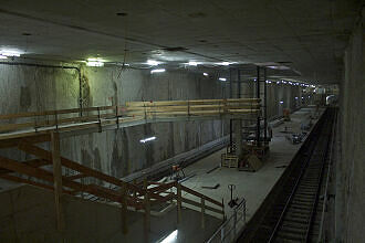 U-Bahnhof Moosacher St.-Martins-Platz im Bau