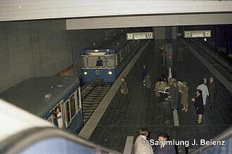 Ungewöhnlicher Betrieb an der Münchner Freiheit im Jahr 1972