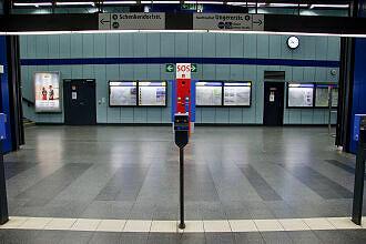 Sperrengeschoss im U-Bahnhof Nordfriedhof