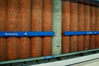 Bohrpfahlwand im U-Bahnhof Obersendling