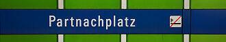 Stationsschild Partnachplatz