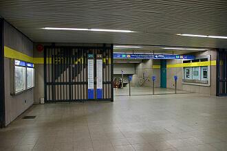 Sperrengeschoss im U-Bahnhof Schwanthalerhöhe