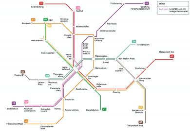 Stand 2018: Möglicher Linienplan U-Bahn mit einer U9-Spange