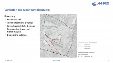Planvarianten zum Betriebshof Süd in Neuperlach
