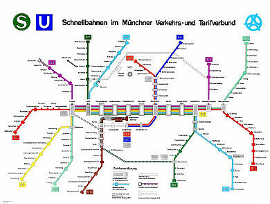 Schnellbahnnetzplan Juni 1972