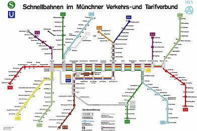 Schnellbahnnetzplan Mai 1976