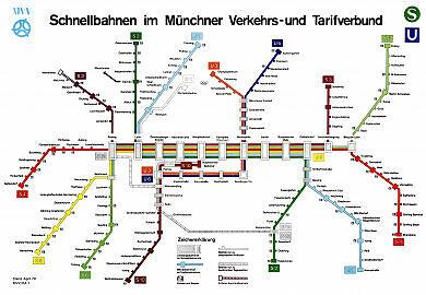 Schnellbahnnetzplan April 1979