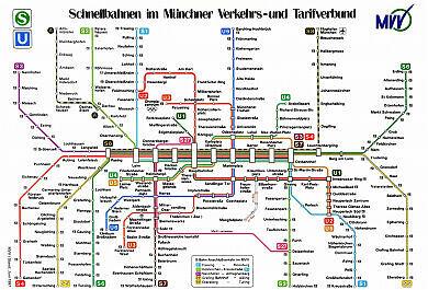 Schnellbahnnetzplan Juni 1997